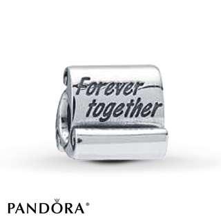 Pandora silver charm - forever together
