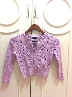Espada Lilac Crochet Sweater