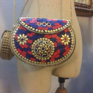 Handmade marble bag from India