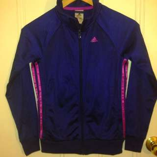 ADIDAS Purple Jacket Zip-Up & Pockets