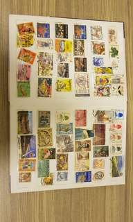 Stamp collection (2 books)