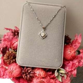 經典閃亮日花美鑽吊墜頸鏈 Classic Shiny Japanese Flower Pendant Necklace