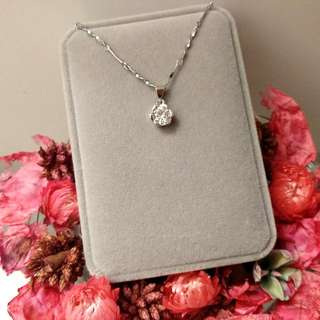 優美典雅玫瑰閃亮吊墜頸鏈 Elizabeth Elegant Rose Shiny Pendant Necklace