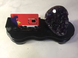 Name card 💳 holder with amethyst