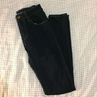 Levis High Waisted Dark Blue Indigo Jeans Size 25 S / XS high waist