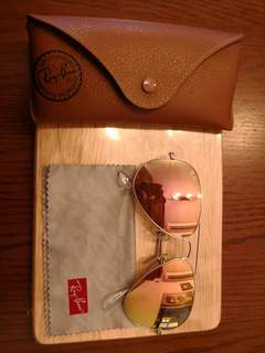 Ray-Ban 玫瑰金太陽眼鏡