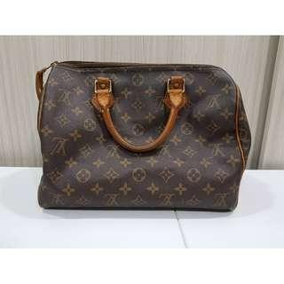 °☆ 珮齊精品舖 ☆° Louis Vuitton LV M41526 正品 Speedy 30手提包 附鎖頭