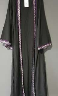 BN Embroided Open Front Bisht Duster From EastEssence