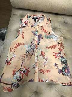 forever21 floral sleevess