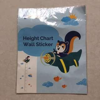 Posb height chart wall sticker