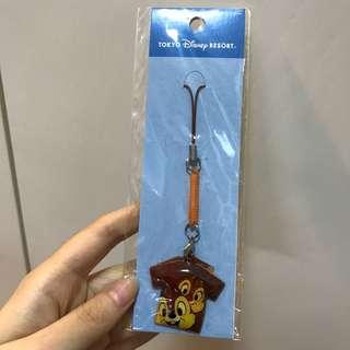 東京迪士尼 Chipndale tee 電話繩