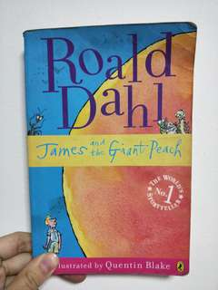 James ans the giant peach by Roald Dahl