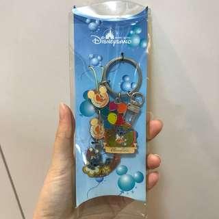 香港迪士尼 4週年紀念 鎖匙扣 史迪仔 stitch