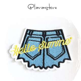 Bn hot pants iron on patch
