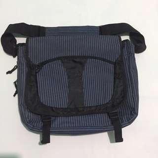 Blue Messenger Bag w/ Free Muji Notebooks