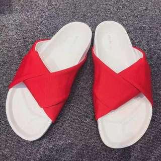 Celine紅色拖鞋,35/36/38
