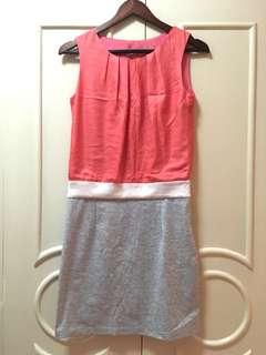 Zara Color Block Summer Dress