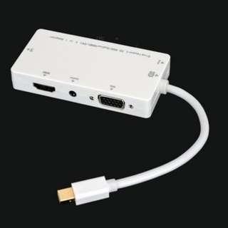4 in 1 Mini DP Thunderbolt Displayport to HDMI VGA DVI AUDIO Adapter