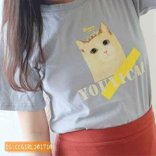 🚚 * 全新 *可愛貓咪印花上衣T恤