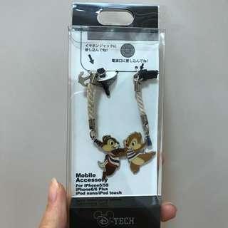 日本 Disneystore Chipndale 手機塞 電話繩
