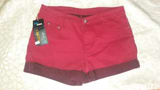 Red Shorts (Size 34)