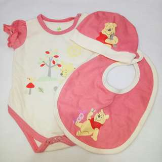 Onesie with Bib and Bonnet