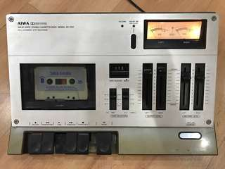 Vintage antique Aiwa solid state stereo cassette deck model AD-1250 (Made in Japan)
