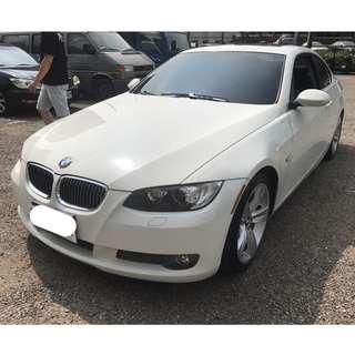 2008年 BMW 335I 稀有全原廠 白色 專營台灣優質中古車-二手車