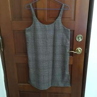 🚚 格紋背心洋裝