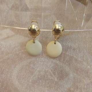 🚚 --6月新款--泰國繽紛夏日簡約造型夾式耳環 兩色可選