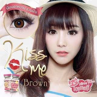 INSTOCKS ( 2 for $10 ) Kiss Me Brown Circle Lens