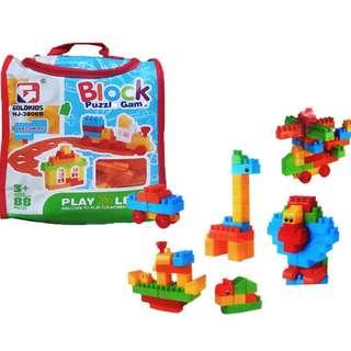 Mainan Lego Block BLOCK PUZZLE GAME 8PCS - HJ-3806D
