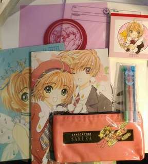 百變小櫻 Card captor sakura 文具Set