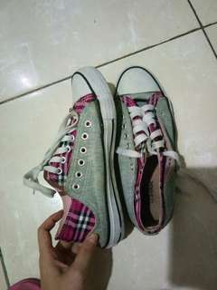 Sneakers North Star grey & pink