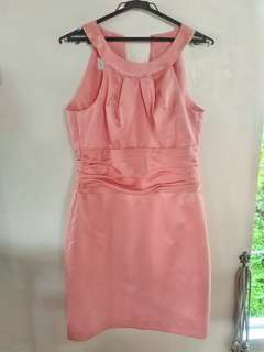 Peach cocktail dress for rent