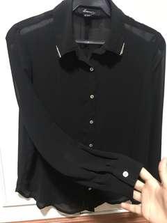 Forever 21 sheer long sleeves