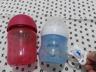 Avent No teat bottle (free pacifier)