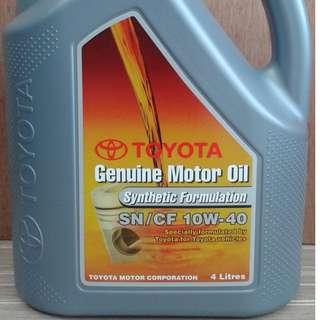 Toyota Semi Synthetic SN/CF 10W40 Genuine Engine oil