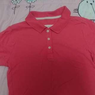 🚚 粉紅POLO衫(女s~m)