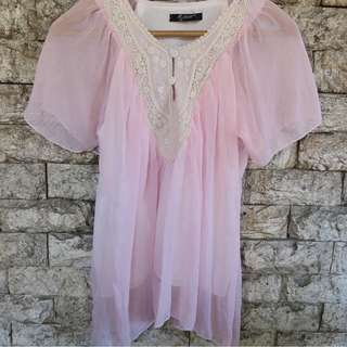 Preloved Flowy Pink Top