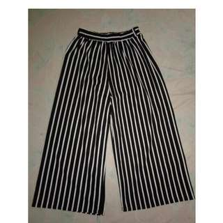 Loose striped pants trousers