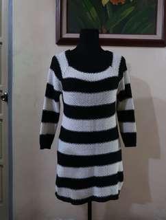 Zara B&W Knit Stripes