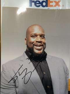 Shaquille O'Neal 俠客·歐尼爾 親筆簽名照