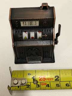 Bronze miniature antique/ vintage jukebox with pencil sharpener display set