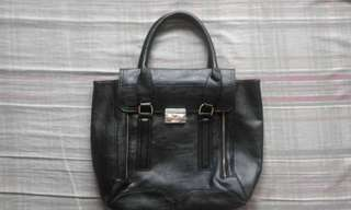 Forever 21-inspired Black Leather Tote Bag