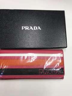 Prada Wallet 真皮有Logo長銀包全新購自意大利