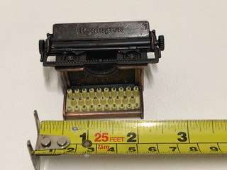 Bronze miniature antique/ vintage typewriter with pencil sharpener display set
