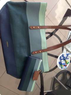 AUTHENTIC FOSSIL BAG & WALLET