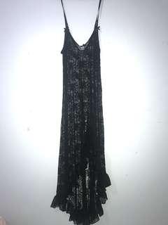 Sheer long black dress