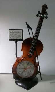 $小提琴造型時鐘$